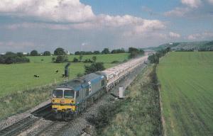 Yeoman Highlander Train at Merehead Somerset Railway Postcard