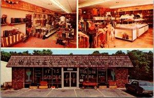 Centereach Long Island NY - WHITEYS SADDLERY - CHROME VINTAGE RETAIL postcard