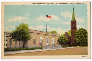Post Office & Presbyterian Church, Indiana PA