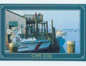1980's COAST GUARD BOAT AT FISHING PIER Cape Cod - Chatham MA hp4991