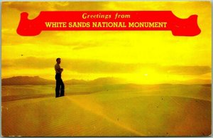 1960s WHITE SANDS NATIONAL MONUMENT New Mexico Postcard Chrome Unused