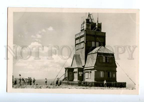 173812 CZECH Krkonose weather station Vintage photo postcard