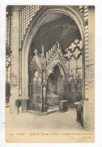 Eglise St.-Etienne-du-Mont, le tombeau de sainte Genevieve, Martyrium, Paris,...