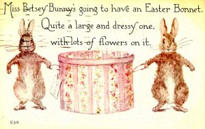 Greeting - Easter. Bunnies