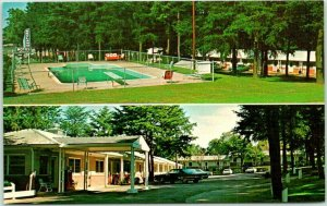 Cornelia Georgia Postcard SKYLAND MOTEL Highway 441 Roadside 1960s Chrome Unused