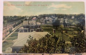 E2/ El Mora New Jersey NJ Postcard c1910 The Plaza Westfield Avenue Homes