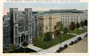 CT - Hartford. Wadsworth Atheneaum, Morgan Memorial, Municipal Building