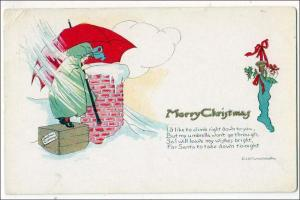 Xmas - Looking Down the Chimney by Edith Truman Woolh
