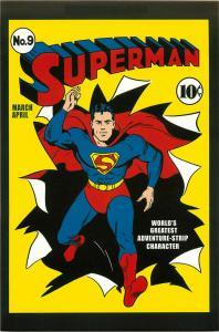 Postcard Art of Vintage DC Comics Superman #9 1st Series March 1941