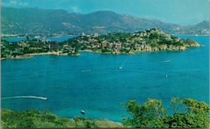 Acapulco Mexico Birdseye Unused Vintage Postcard D37
