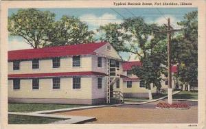 Illinois Fort Sheridan Typical Barrack Scene Military 1947