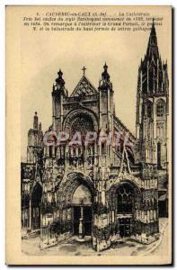 Old Postcard Caudebec en Caux La Cathedrale