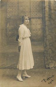 Women portraits early photo postcards x 15