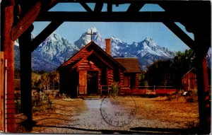 The Chapel of The Transfiguration Moose Wyoming postcard
