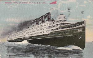 Steamer City Of Detroit III, D. & C. Line, PU-1912
