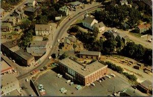 Hotel Caribou Motor Hotel Caribou Maine Birdseye View US1 Airforce base Postcard