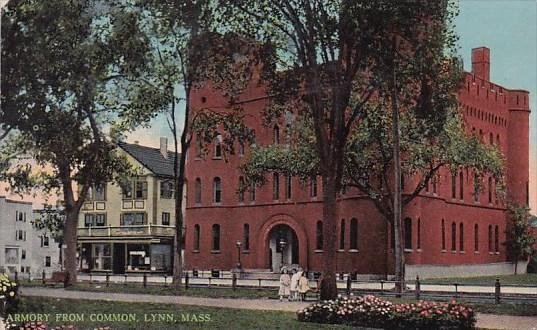 Armory From Common Lynn Massachusetts 1915