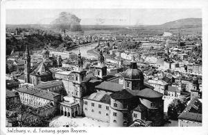 Salzburg von der Festung gegen Bayern Kirche Church River Panorama