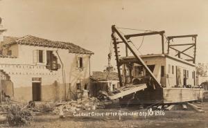 RP: MIAMI , Florida ; Coconut Grove after Hurricane , Sep. 18 1926
