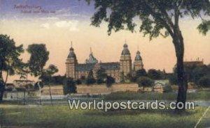 Schlob vom Main aus Aschaffenburg Germany 1922 Missing Stamp