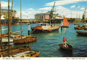 Dorset Postcard, Lifeboat in Weymouth Harbour, Boats FQ4