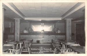 C43/ Gaylord Michigan Mi RPPC Postcard Hidden Valley Ski Club Bar Interior 5