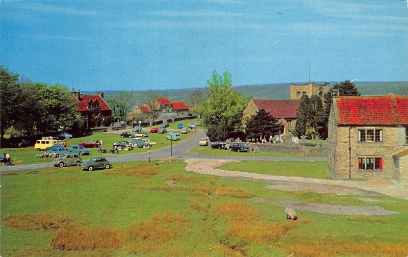 Goathland Yorks Street Vintage Cars Dennis Productions Postcard