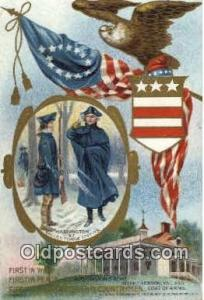 United States first President George Washington Postcard Postcards