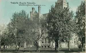 Wellington Kansas~Third Ward School~1910 Postcard