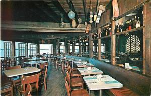 Dining at Landfall Restaurant Woods Hole Harbor Cape Cod MA