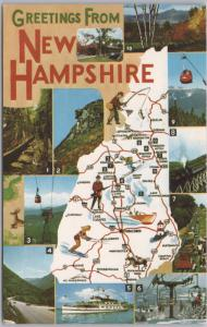 Greetings from New Hampshire, Multi-view large map card -