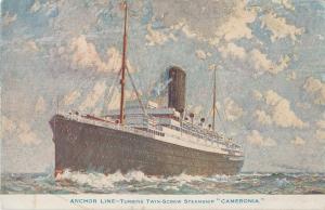 Postcard Cameronia Steamship Anchor Line Boat Ship Nautical