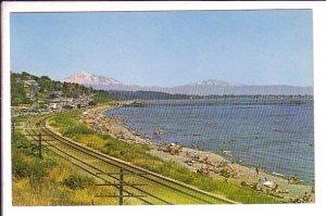 White Rock, Beach, Railway Tracks,  British Columbia, Used 1966