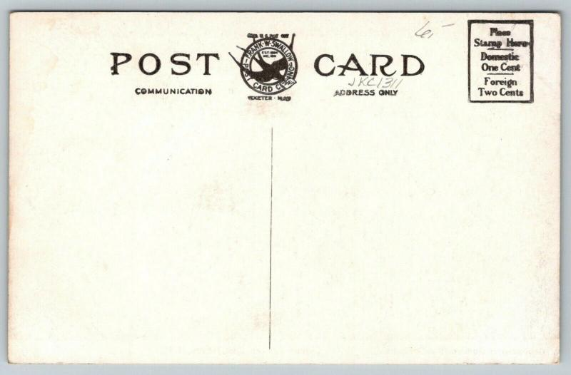 East Jeffrey New Hampshire~Contoocook Inn~Men on Tennis Court~Frank Swallow~1910