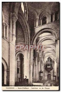 Old Postcard Tournus Saint Philibert Interior seen the choir Organ
