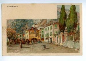 171858 ITALY PORLEZZA Manuel Wielandt Vintage litho postcard