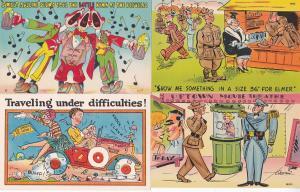 0192 Grabbag Auction 4 Comic Postcards Starting At .99