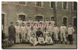 Old Postcard PHOTO CARD Army Soldiers