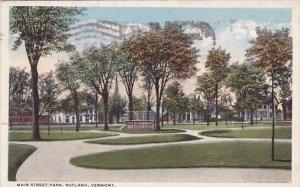 Main Street Park Rutland Vermont 1919