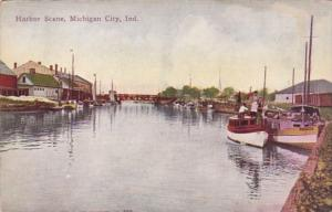 Indiana Michigan City Harbor Scene