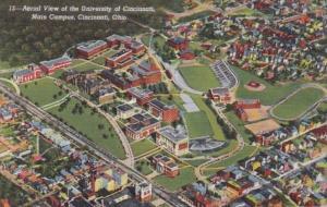 Ohio Cincinnati Aerial View Of University Of Cincinnati Main Campus Curteich