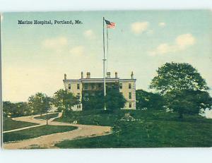 Unused Divided Back HOSPITAL SCENE Portland Maine ME J9761