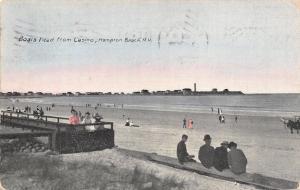 Hampton Beach New Hampshire~Boars Head From Casino Beach~1912 Postcard