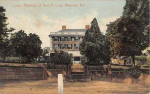 Wakefield Rhode Island Cross Residence Exterior Antique Postcard K13798