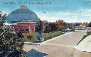 Dome Building St Fair Grounds Springfield IL Posted DividedBack Vintage Postcard