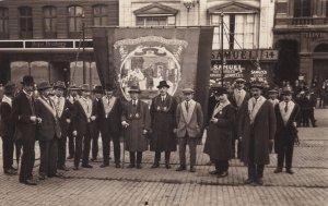Norwich East Anglian Oddfellows at Lloyds Bank Antique Norfolk RPC Postcard