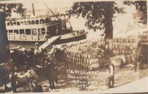 RP: HAMBURG  , Illinois , 1913 ; Str BELLE of Calhouh,4300 BBLS Apples