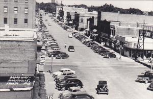 Kansas Marysville Broadway Street Scene Real Photo