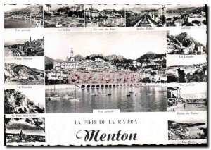 Modern Postcard Pearl of the Riviera Menton