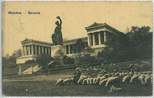 Ansichtskarte  VINTAGE POSTCARD: GERMANY -   Munich  München 1922 - NICE!